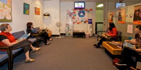 Clients waiting for a drop-in appointment at our clinics.
