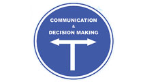 Arrow sign showing communication and decision making