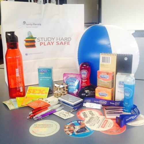 Check out this amazing goodie bag for one lucky person at each campus.