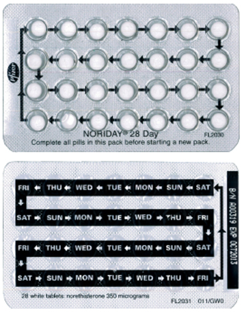 Progestogen Only Contraceptive Pill Family Planning