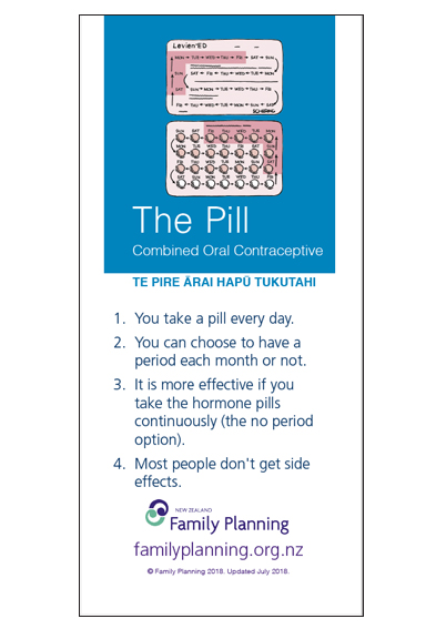 The Pill Combined - Pamphlet